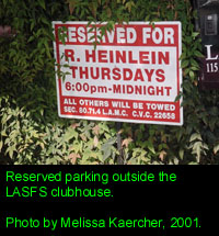 LASFS Clubhouse: Reserved Parking Spot for Heinlein